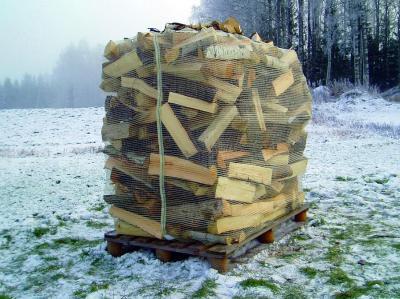 brennholz schuettraummeter auf palette 400